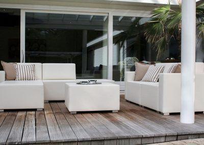 Loungeset wit, een mooie aanvulling voor uw serre
