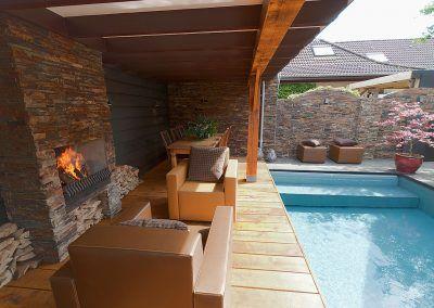 Voor wellness tuin en zwembad