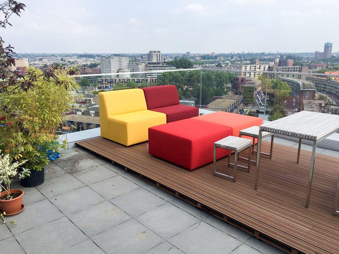 Loungeset met uitzicht