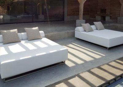 Loungebedden terras design