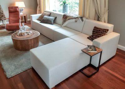 Loungebankstel, indoor, wit