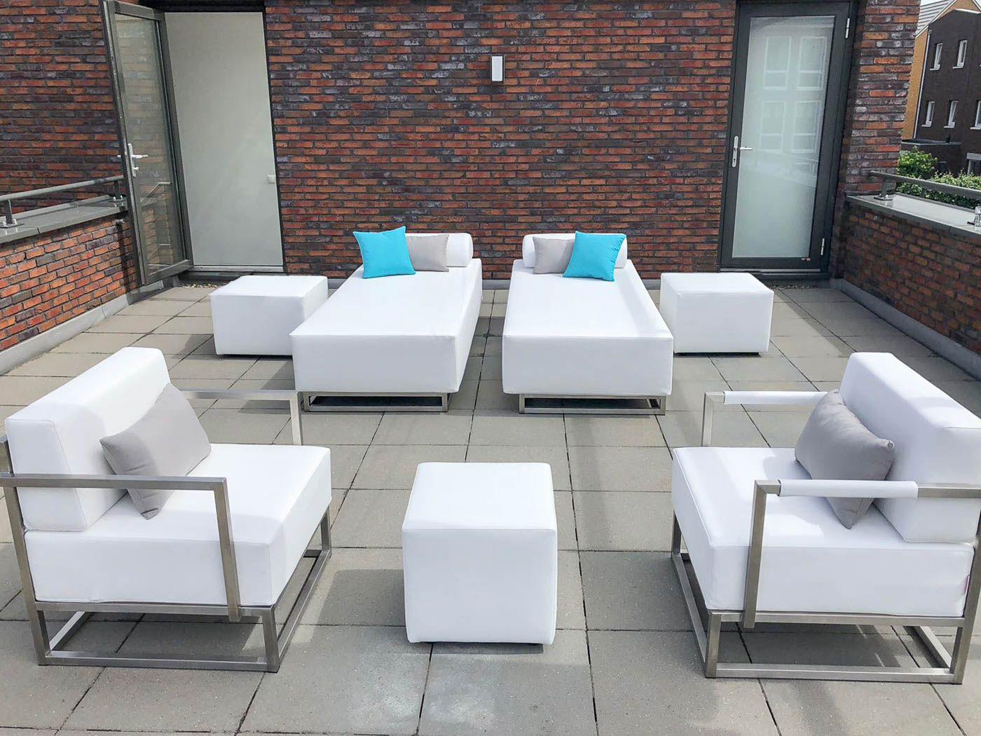 Loungeset met stoelen